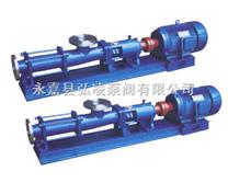 螺杆泵型号:GF型不锈钢单螺杆泵