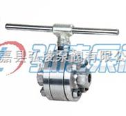 球阀型号:Q41H锻钢三片式硬密封球阀