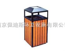 南京钢木单桶垃圾箱